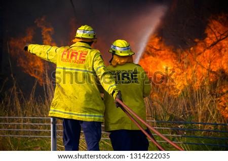 Australian bushfires 2018 NSW Royalty-Free Stock Photo #1314222035