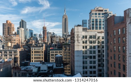 Beautiful Manhattan skyline vista in winter #1314247016