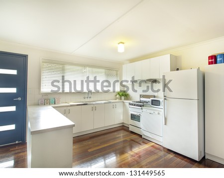 Classic kitchen with white goods #131449565