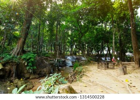 Beautiful waterfall scene Kroeng Krawia Waterfall at Kanchanaburi ,Thailand #1314500228