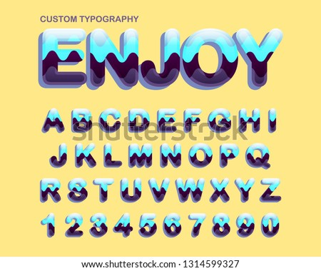 Colorful curves rounded vintage typography #1314599327
