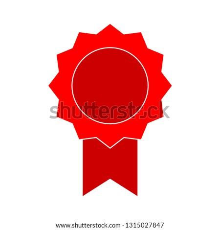 badge icon - badge isolated , ribbon illustration -Vector award badge #1315027847