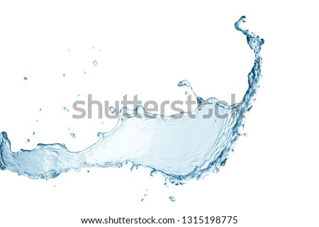 Water splash isolated this has clipping path. #1315198775