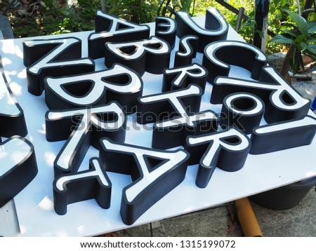 Letters signage , Acrylic Channel Letters