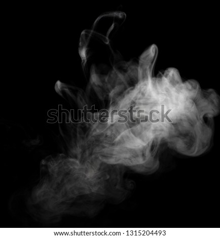 Abstract powder or smoke isolated on black background #1315204493