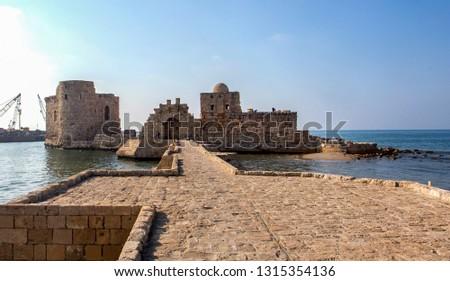 The sea castle of Saida in Lebanon #1315354136