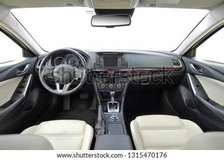 dashboard of a modern car #1315470176