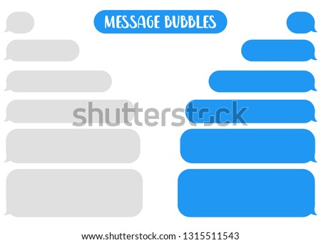 Message bubbles chat vector. Vector template of message bubbles chat boxes icons. Royalty-Free Stock Photo #1315511543