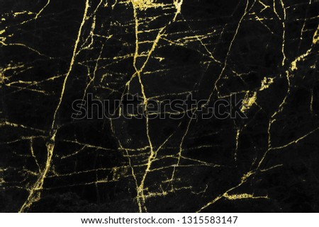 Black and gold marble texture design for cover book or brochure, poster, wallpaper background or realistic business and design artwork. #1315583147