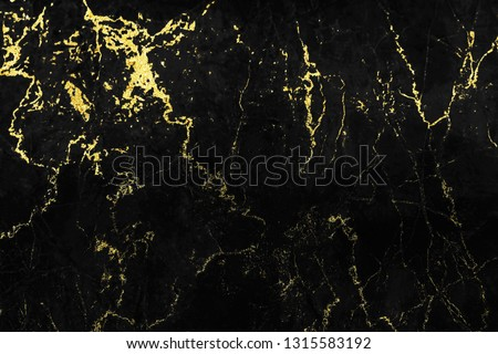 Black and gold marble texture design for cover book or brochure, poster, wallpaper background or realistic business and design artwork. #1315583192