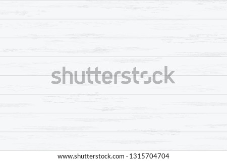 White wood plank texture for background. Vector illustration. #1315704704