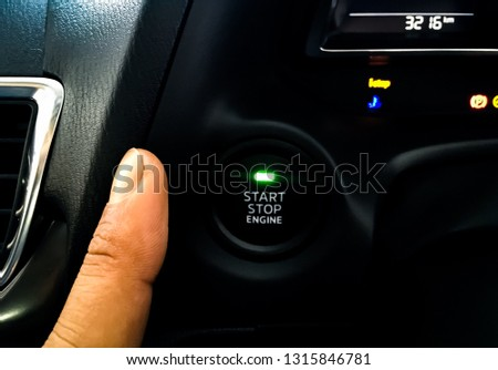 Car driver starting the engine #1315846781