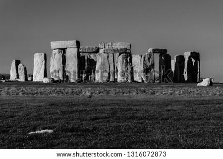 Salisbury, United Kingdom - November 17, 2018: Prehistoric monument Stonehenge #1316072873