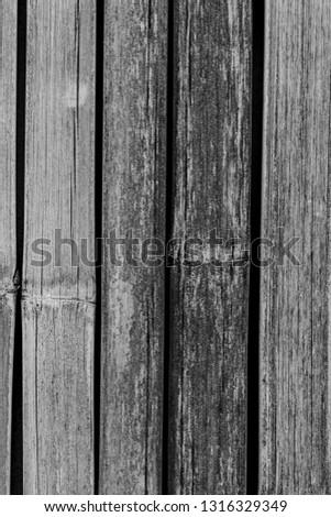 Bamboo made into old walls, Close up #1316329349