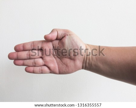 hand isolated on white background #1316355557