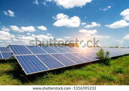 Solar panel, photovoltaic, alternative electricity source - concept of sustainable resources #1316395232
