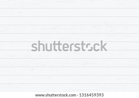 White wood plank texture for background. Vector illustration. #1316459393