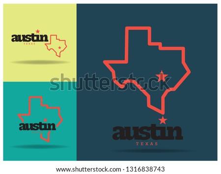 Austin Texas Logo design Concept, Vector EPS 10.