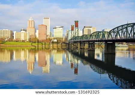 A beautiful reflection of portland city