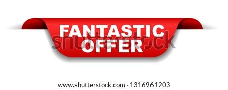 red banner fantastic offer #1316961203