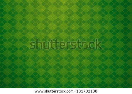 Green Argyle Textured Background