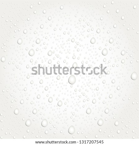Water drops on glass. - Vector #1317207545