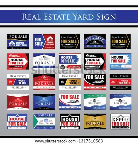 Big Collection Real Estate Yard Signage, For Sale Yard Sign