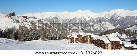 Mountaing Village under Snow #1317326822
