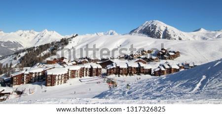Mountaing Village under Snow #1317326825