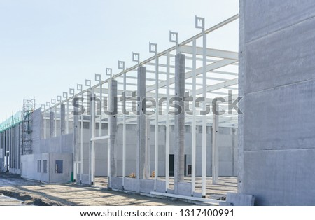 Construction site for a new industrial hall #1317400991