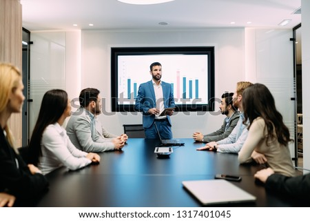 Picture of business meeting in conference room #1317401045