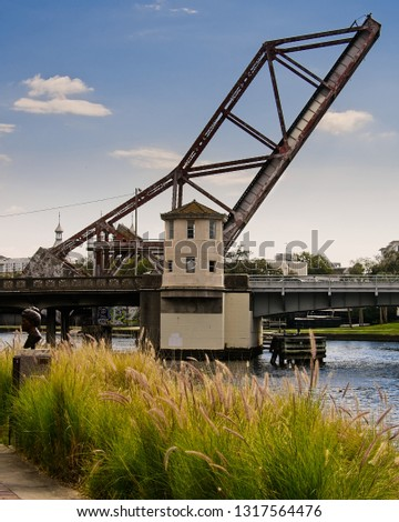 Tampa Florida Riverwalk Abandoned Train Track Draw Bridge February 2018 #1317564476