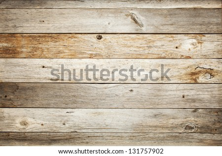 rustic weathered barn wood background with knots and nail holes Royalty-Free Stock Photo #131757902