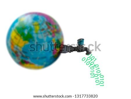 earth and data trannsfer #1317733820