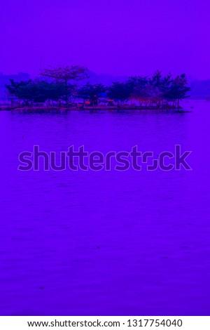 Tilok Aram temple in Kwan Phayao lake, Thailand. #1317754040