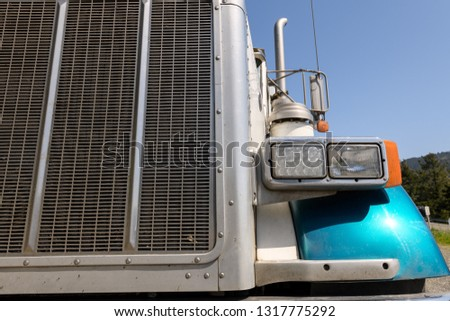 Semi truck grille and LED headlamp  #1317775292