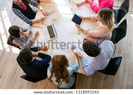 Startup Teamwork Brainstorming Meeting concept in office #1318091045