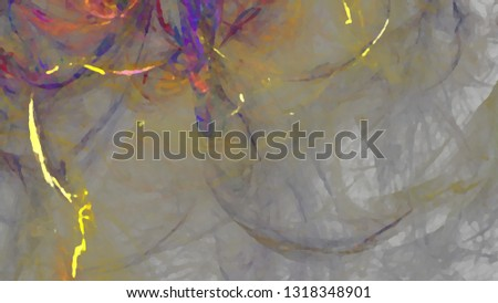 Fantasy chaotic colorful fractal pattern. Abstract fractal shapes. 3D rendering illustration background or wallpaper. #1318348901