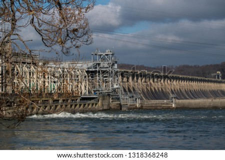 A side view of Conowingo dam, Darlington, MD in a Thanksgiving Day #1318368248