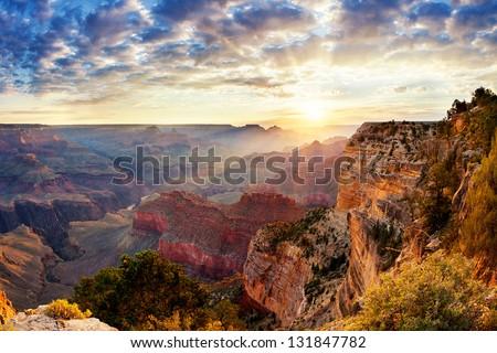 Grand Canyon sunrise Royalty-Free Stock Photo #131847782