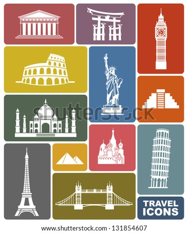 Travel icons #131854607