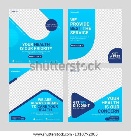 Healthcare post social media template #1318792805