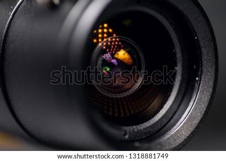CCTV Security Camera. Video camera lens closeup #1318881749