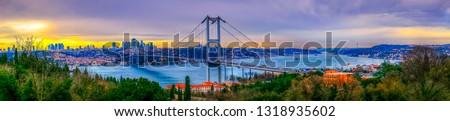 15 July Martyrs Bridge (Turkish: 15 Temmuz Sehitler Koprusu) Beautiful sunset in Istanbul, Turkey. Istanbul Bosphorus Bridge. Fatih Sultan Mehmet Bridge in Istanbul, Turkey. #1318935602
