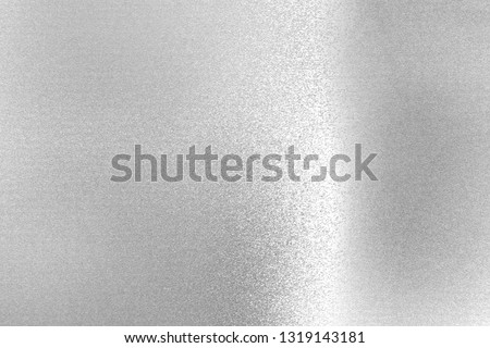 Reflection of rough silver metallic, texture background #1319143181