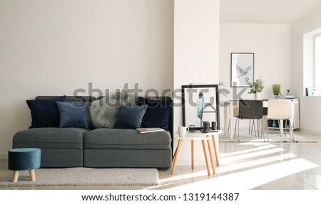 Interior of modern studio apartment #1319144387