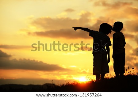 Active kids having happy time looking for their better future #131957264