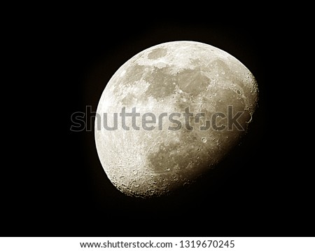 Moon background / The Moon is an astronomical body that orbits planet Earth and is Earth's only permanent natural satellite. It is the fifth-largest natural satellite in the Solar System #1319670245