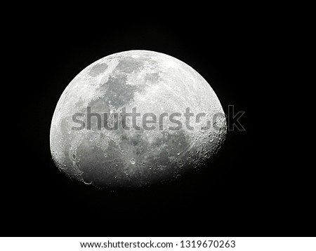 Moon background / The Moon is an astronomical body that orbits planet Earth and is Earth's only permanent natural satellite. It is the fifth-largest natural satellite in the Solar System #1319670263
