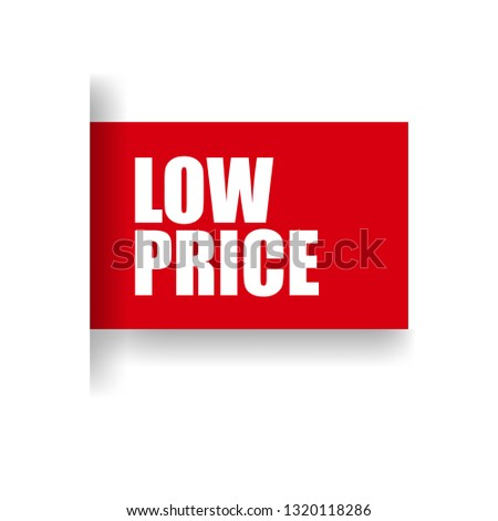 low price sticker,label, banner.red color #1320118286